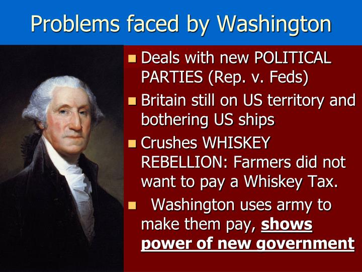 Problems faced by Washington