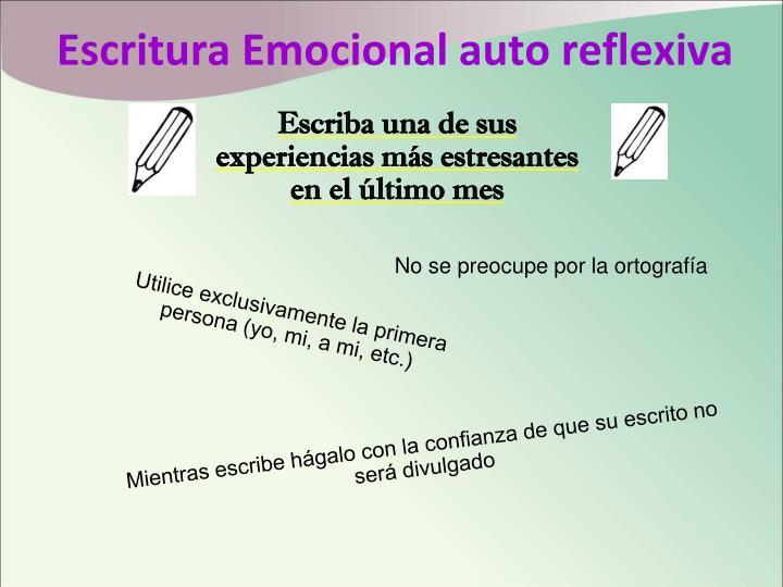 Escritura Emocional auto reflexiva