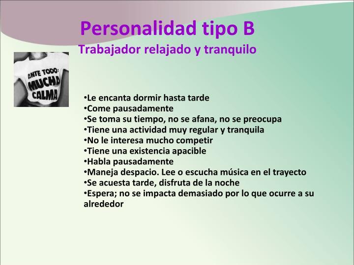 Personalidad tipo B