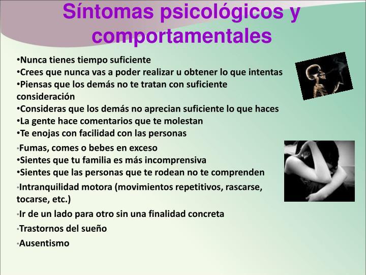 Síntomas psicológicos y comportamentales