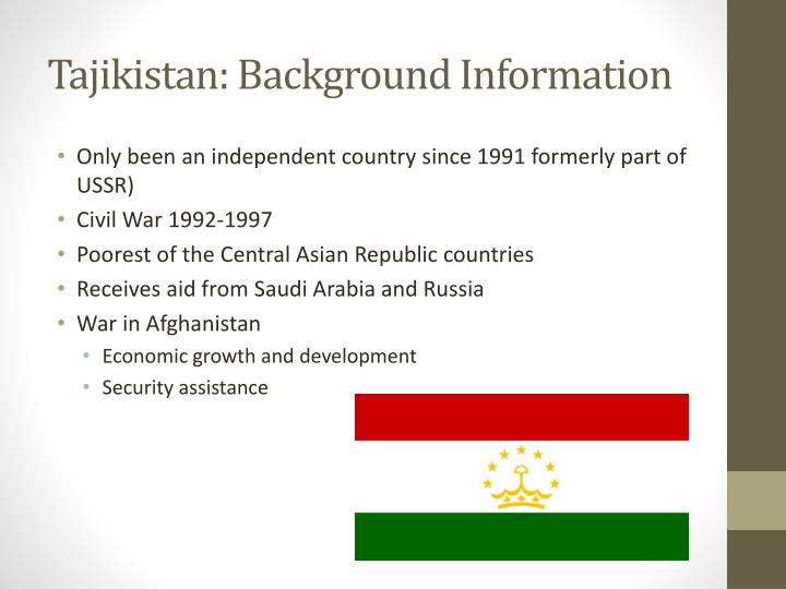 Tajikistan: Background Information