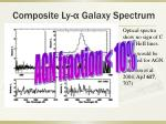 composite ly galaxy spectrum