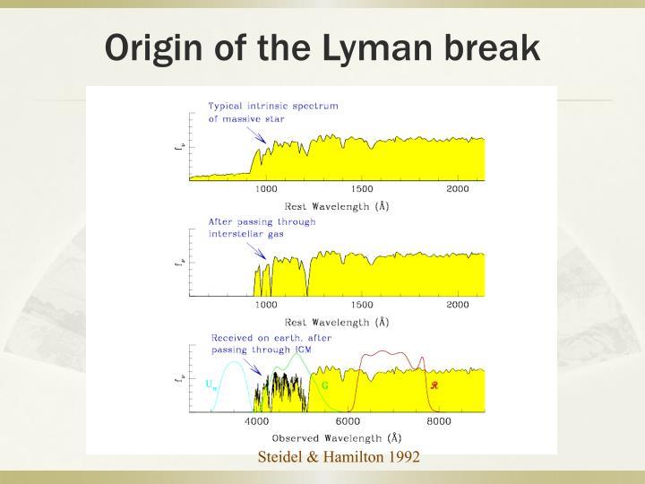 Origin of the Lyman break