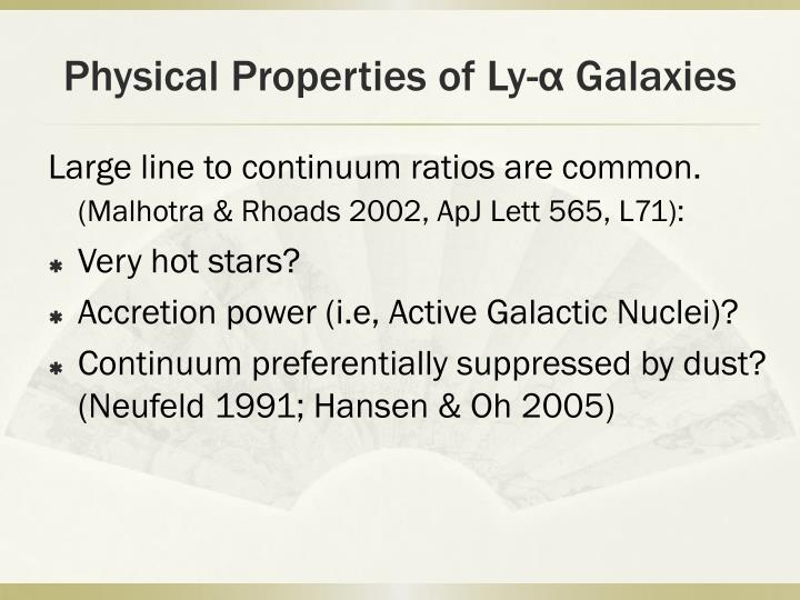 Physical Properties of Ly-