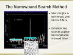 the narrowband search method1