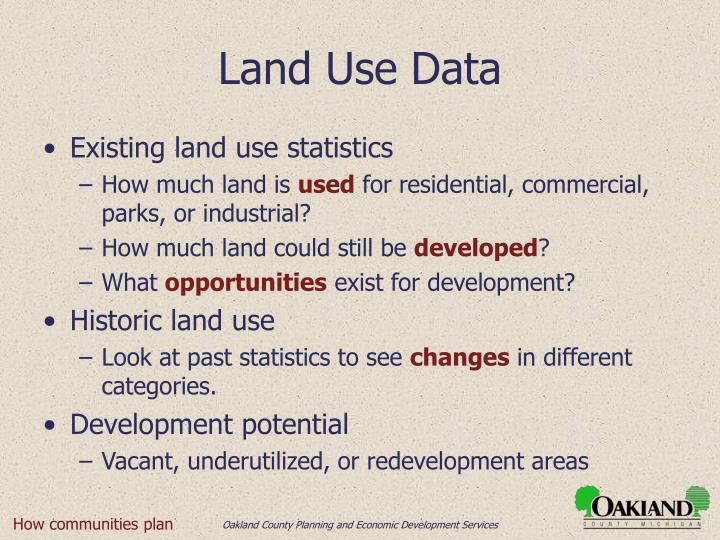Land Use Data