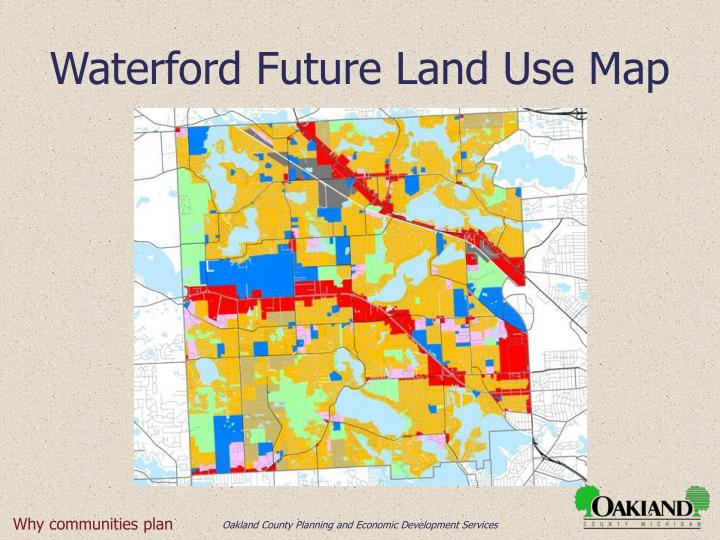 Waterford Future Land Use Map
