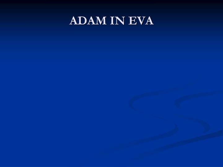 Adam in eva