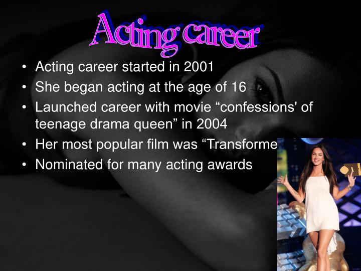 Acting career