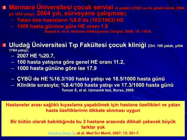 Marmara Üniversitesi çocuk servisi