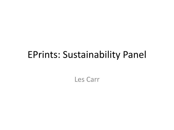 eprints sustainability panel