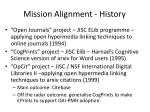 mission alignment history