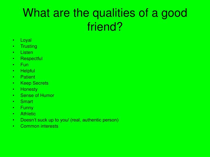Essay on qualities of a good friend