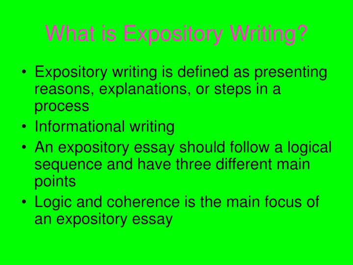 How to write an expository essay ppt