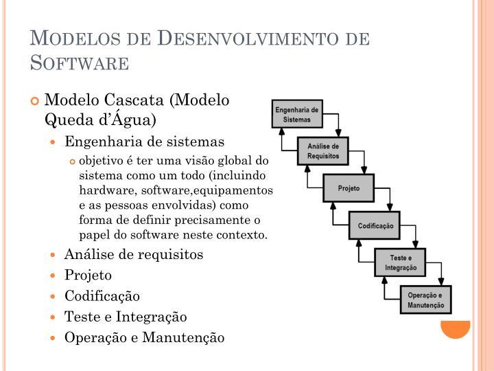 Modelos de Desenvolvimento de Software
