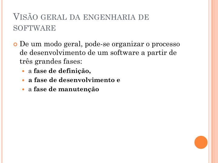 Visão geral da engenharia de software