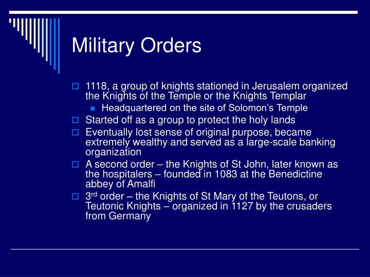 Military Orders