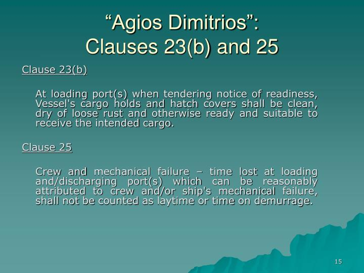 """Agios Dimitrios"":"