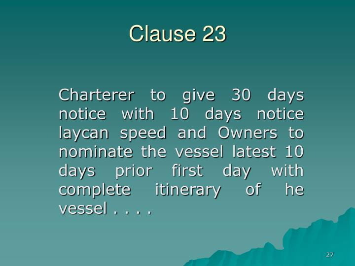 Clause 23