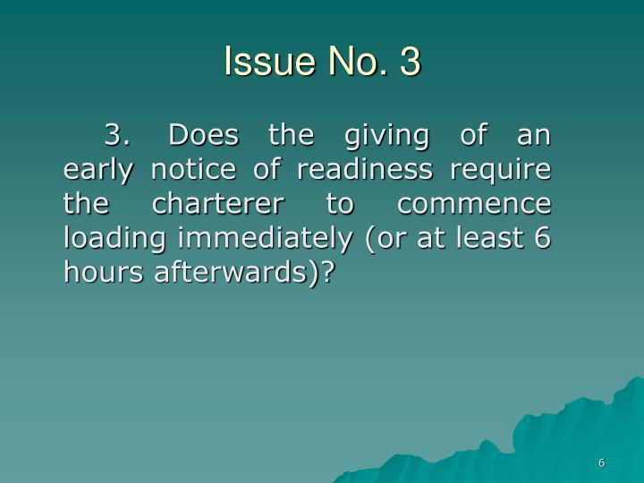 Issue No. 3