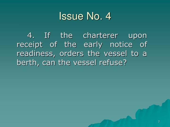 Issue No. 4