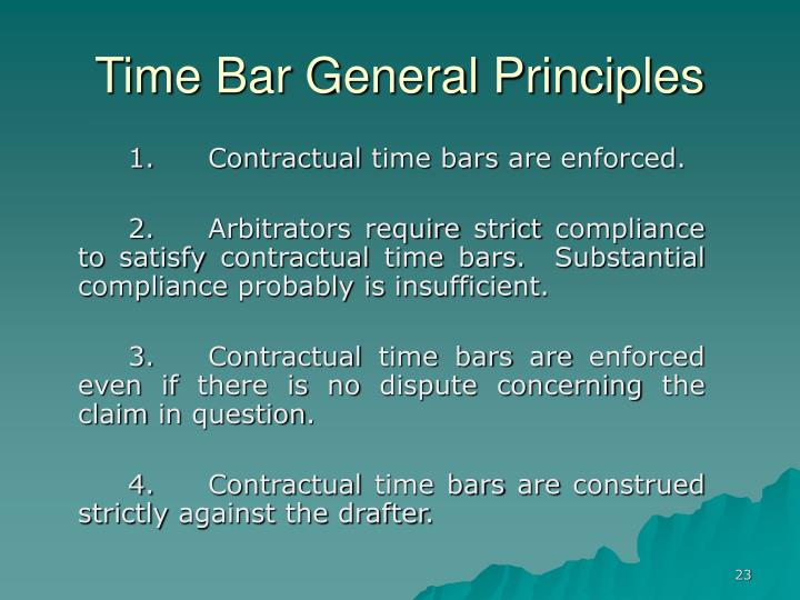 Time Bar General Principles