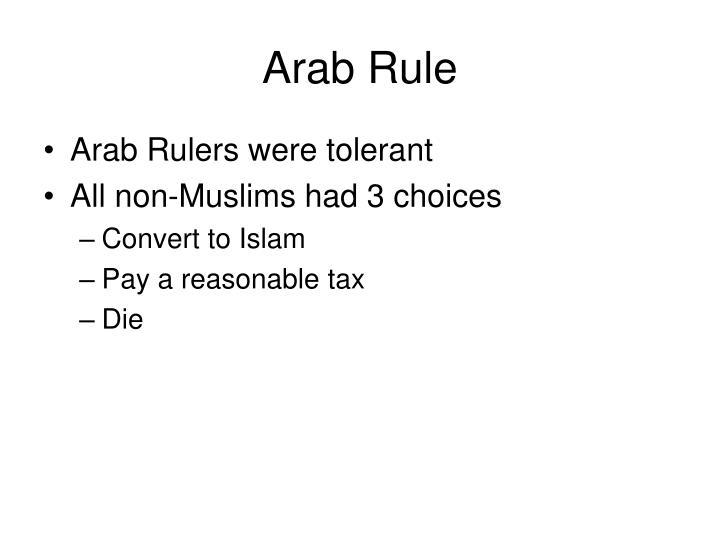 Arab Rule