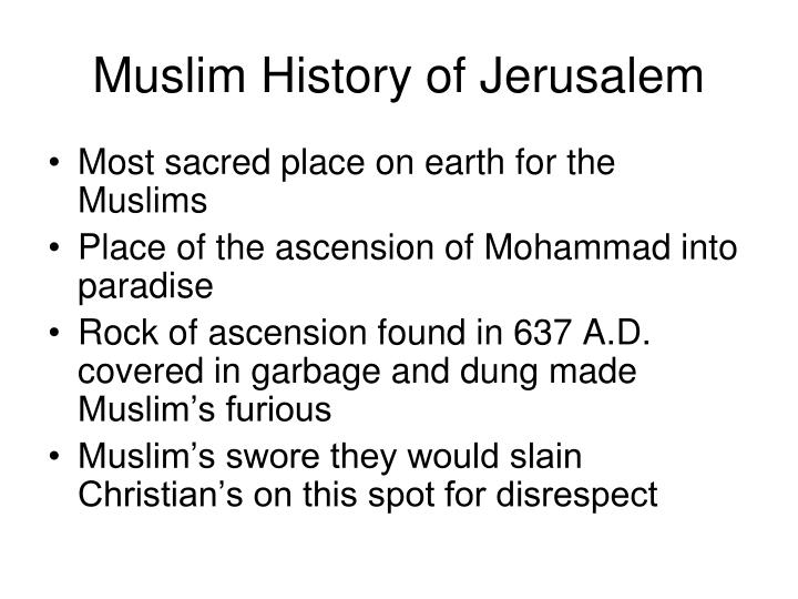 Muslim History of Jerusalem