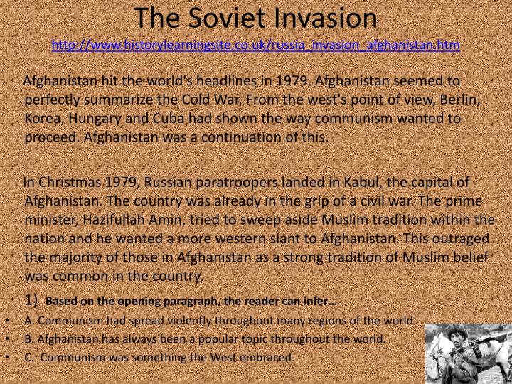 The Soviet Invasion