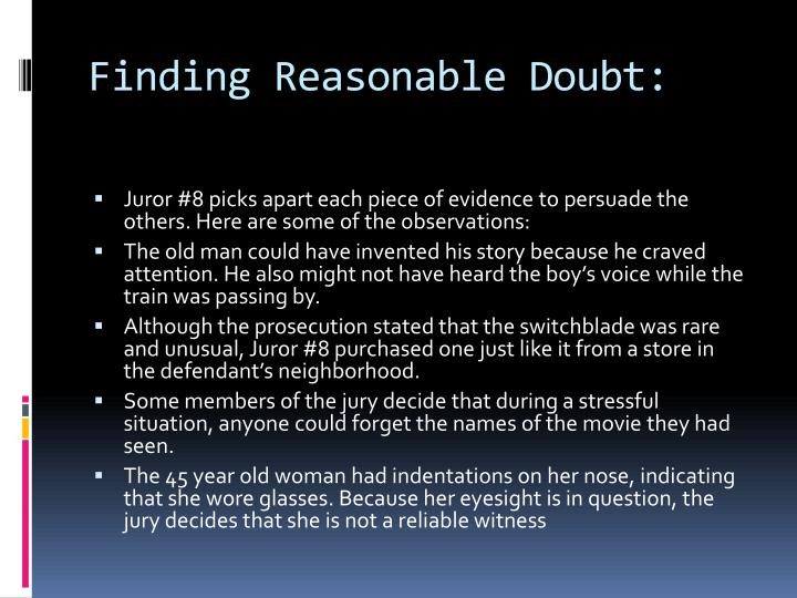 Finding Reasonable Doubt: