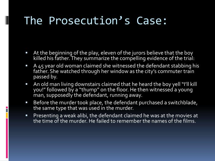 The Prosecution's Case: