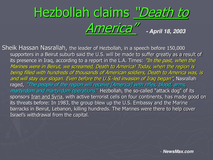 Hezbollah claims