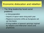 economic dislocation and rebellion