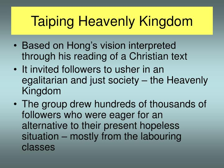 Taiping Heavenly Kingdom
