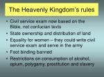 the heavenly kingdom s rules