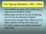 the taiping rebellion 1851 1864