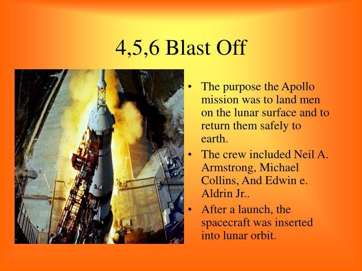 4,5,6 Blast Off