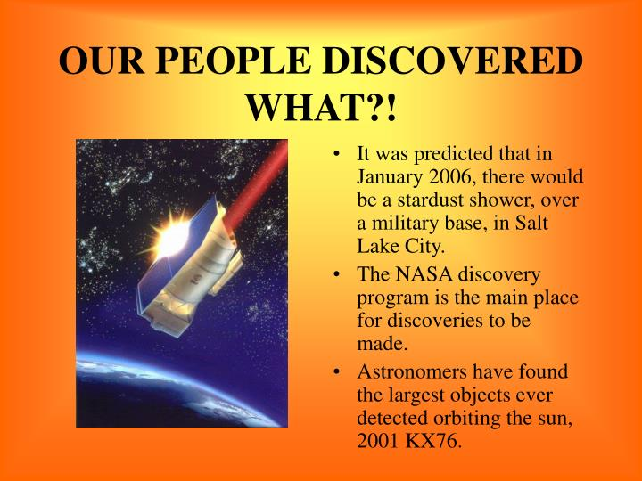OUR PEOPLE DISCOVERED WHAT?!