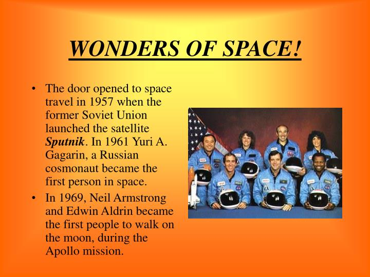 WONDERS OF SPACE!