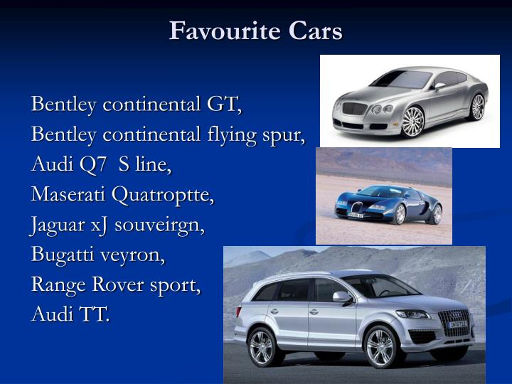 Favourite Cars