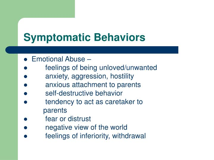 Symptomatic Behaviors