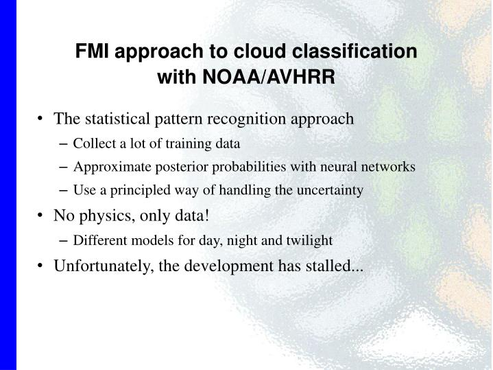 FMI approach to cloud classification
