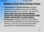 reagan s first term foreign policy2