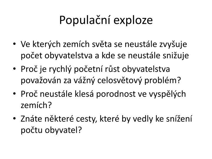 Populační exploze