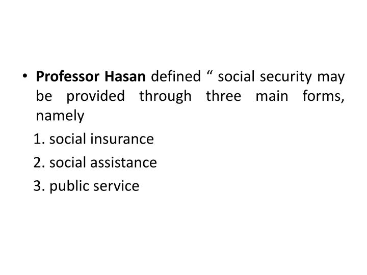 Professor Hasan