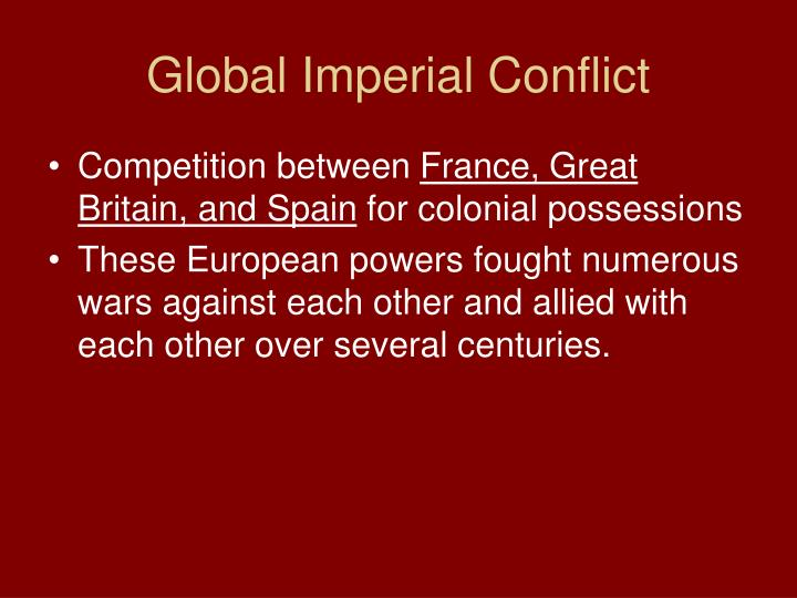 Global Imperial Conflict