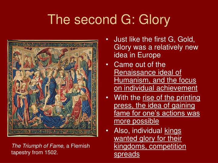 The second G: Glory