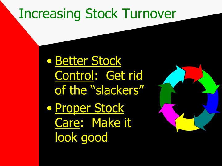 Increasing Stock Turnover