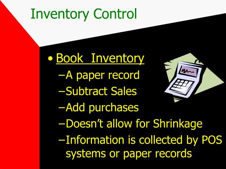 Book  Inventory
