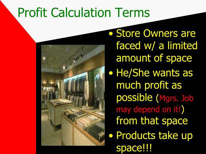 Profit Calculation Terms